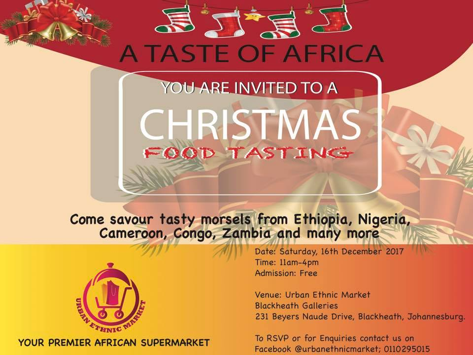 Christmas Food Tasting at the Urban Ethnic Market